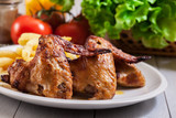 Tasty baked chicken wings - 183342936