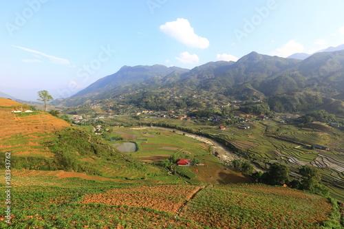 Staande foto Rijstvelden Mu Cang Chai, YenBai, Vietnam