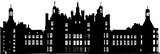 城のような要塞のシルエット - 183345785