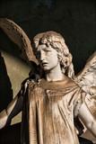 Statue in italian cemetery Monumentale in Milan - 183347916