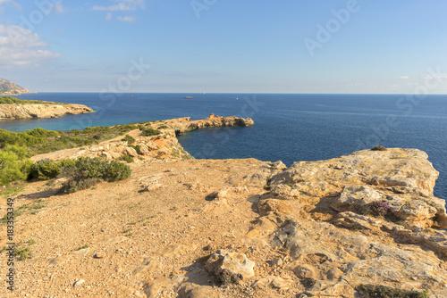 Cape Martinet on the island of Ibiza, Baleares, Spain