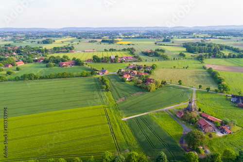 In de dag Blauwe hemel Landschaft in Deutschland