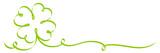 Single Calligraphy Green Cloverleaf Ribbon 2 Swirls - 183355116