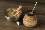 traditional yerba mate with accesories - 183360112