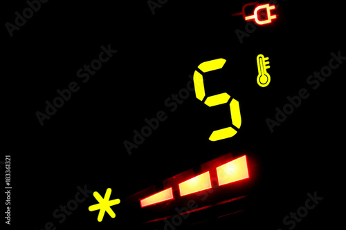 electronic thermometer -5 degrees Celsius