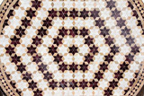 Detail of traditional moroccan mosaic wall, Morocco - 183364733