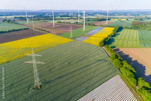 Fotobehang Meloen Landschaft in Deutschland