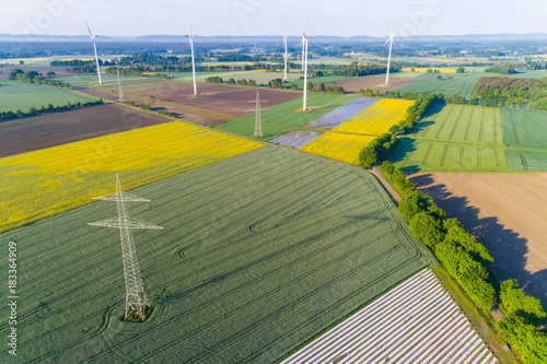 Foto op Plexiglas Oranje Landschaft in Deutschland