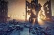 apocalyptic sunset. - 183367775