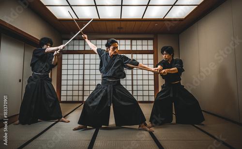 Samurai in a dojo © oneinchpunch