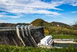 Dam on the lake Solinskie in Solina, Bieszczady, Poland