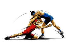 Wrestling Action 5 Sticker