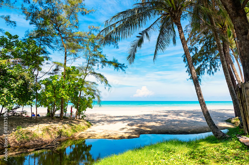 Papiers peints Tropical plage beach and palms in paradise thailand island