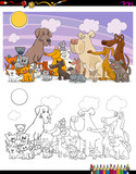 cats and dogs characters coloring book - 183378745