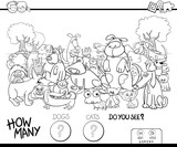 counting cats and dogs coloring book - 183378786