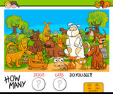 counting cats and dogs educational game - 183378795
