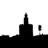 torre del oro en sevilla - 183380196