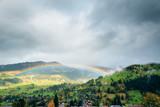 Alpine Landscape With Rainbow - 183383773