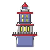 Marine lighthouse icon, cartoon style - 183395129