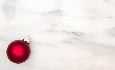 Christmas Background on a Marble Table