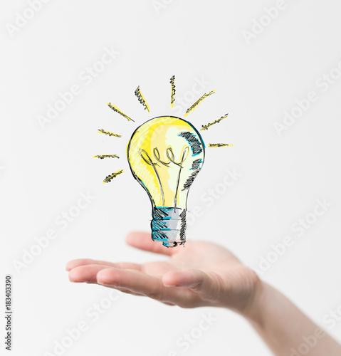 Fototapeta lamp idea