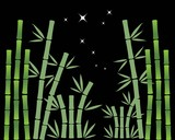 Bamboo tree vector icon template