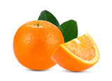 orange isolated on white background. Full depth of field with clipping path.