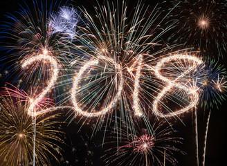 New year fireworks 2018 © Minerva Studio