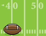 American Football Ball and Field Background Illustration - 183411161