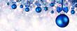Quadro Blue Christmas Balls Hanging At Fir Branches