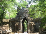 One of the entrances to the ancient kingdom of kmer in Siem Reap, Cambodia
