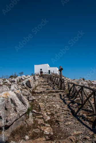 Access to the Church of San Costanzo, from Punta Campanella, Italy