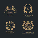 Luxury Logo set. Vector Logo template. - 183422120