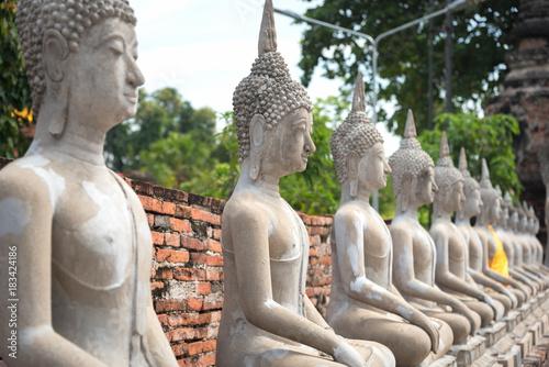 Foto op Aluminium Boeddha Wat yai chai mongkhon is a Buddhist temple