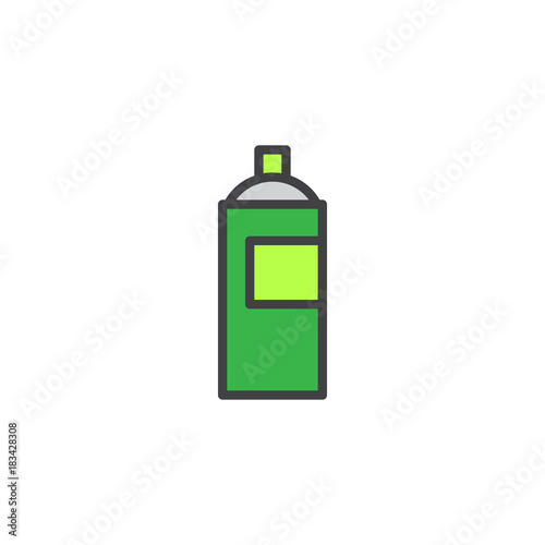 Graffiti spray can filled outline icon