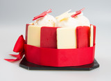 cake or birthday ice cream cake on background. - 183428765