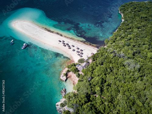 Papiers peints Bleu vert Bongoyo Island Aerial