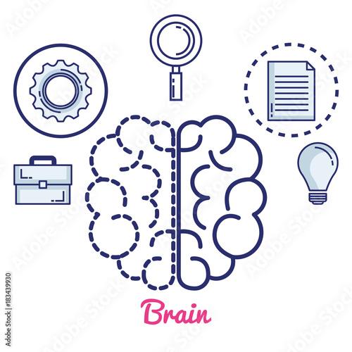 creative brain set icons vector illustration design © Gstudio Group