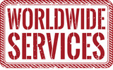 worldwide servicesHeadline stamp Trendy vector illustration - 183441338
