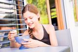 Teenage Girl Enjoying Ice Cream - 183448322