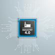 Industry 4.0 Futuristic Processor Circuit Board Infographic - 183449551