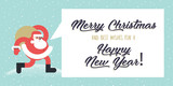Christmas and New Years flat design style greeting card. Vector illustration template for greeting cards, website and mobile banners, marketing material. - 183462155