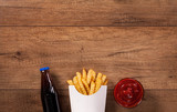 Fast food menu on the table - with copy space - 183466933