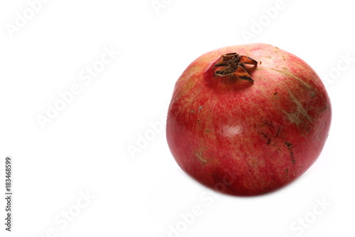 Pomegranate isolated on white background - 183468599