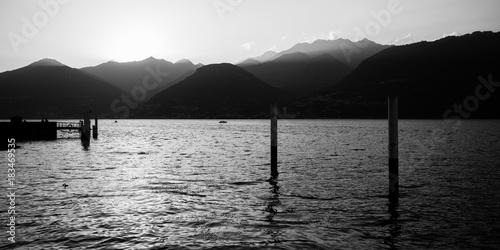 Aluminium Pier tramonto da Colico - lago di Como