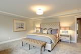 Luxury master bedroom interior . - 183475529