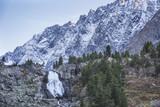 Kuiguk waterfall landscape. Altai mountains