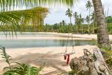 swing in paradise beach in ko kut island. thailand - 183479905