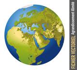 terre - globe - monde - planète - continent - Europe - Afrique - relief - Asie - océan - humanité - montagne - désert - 183480168