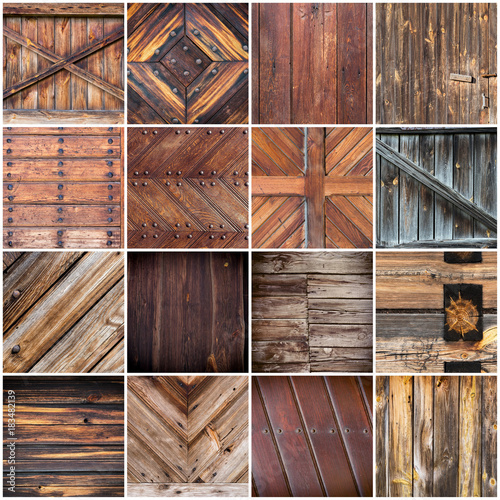 Poster Big collection of wood texture backgrounds